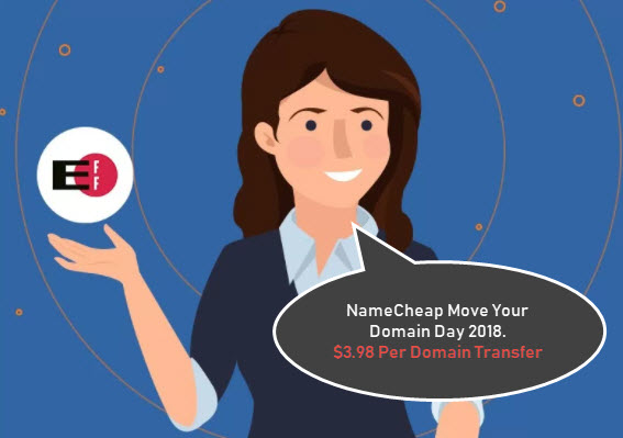 NameCheap Move Your Domain Day 2018 - $3.98 Per Domain Transfer