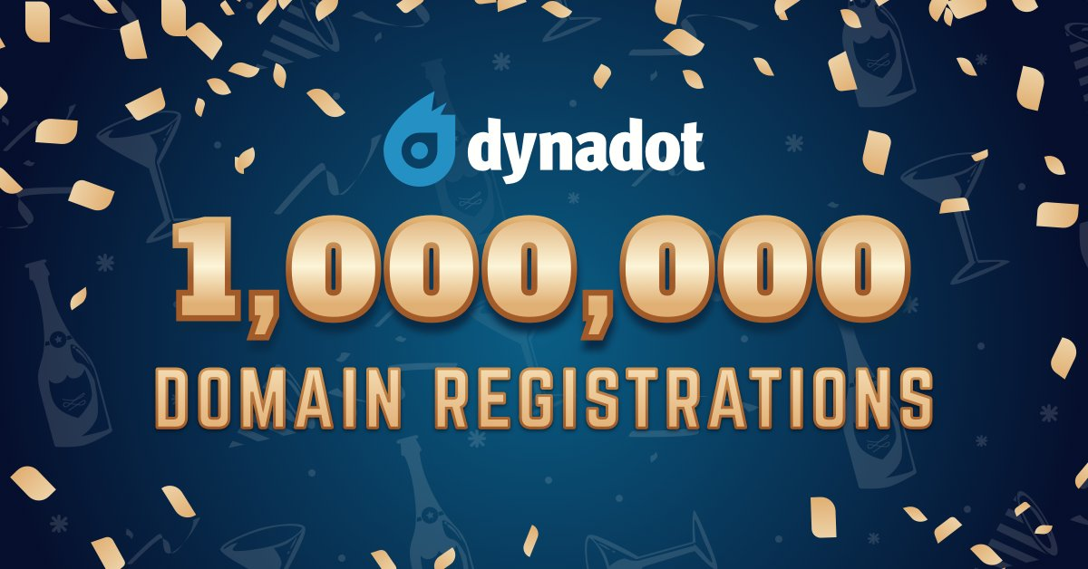 Dynadot Passes One Million Domains Under Management