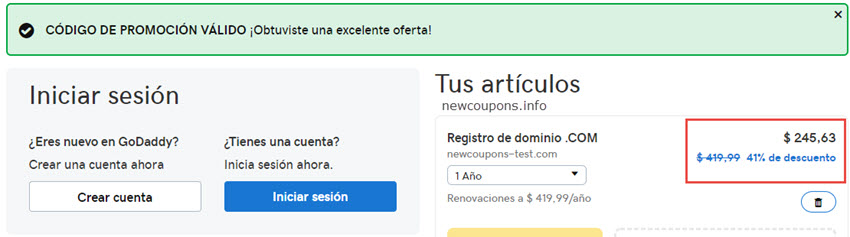 Register .COM for just $6.4 at GoDaddy - Save up to 41%
