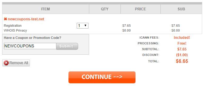 Namesilo Coupon - $6.65 .NET Registrations + Lifetime Free Privacy